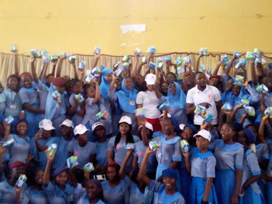 Menstrual Hygiene Day: Actress Tonto Dike Visits Girls School, Distributes Sanitary Pads