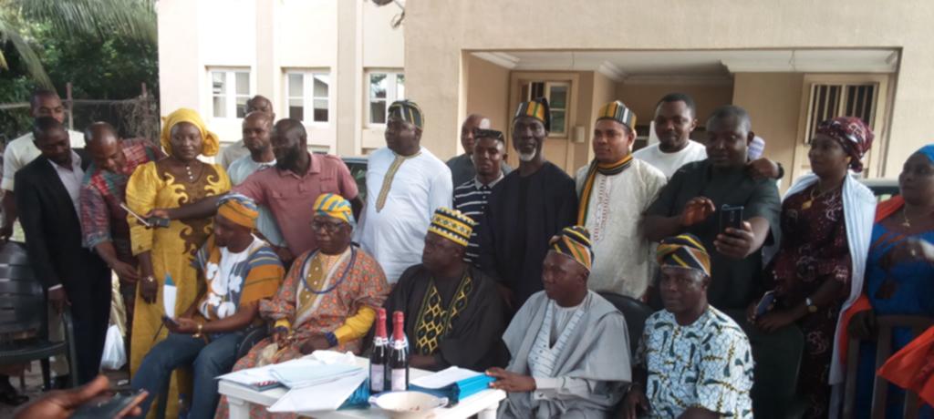 Newly Elected Executive Members, Igala Cultural Development Association (ICDA), Federal Capital Territory (FCT) Chapter. and the National President of the ICDA, Alhaji Abubakar Sadiq Amodu